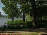 Secluded Overlook on the Charles, Esplanade, Boston